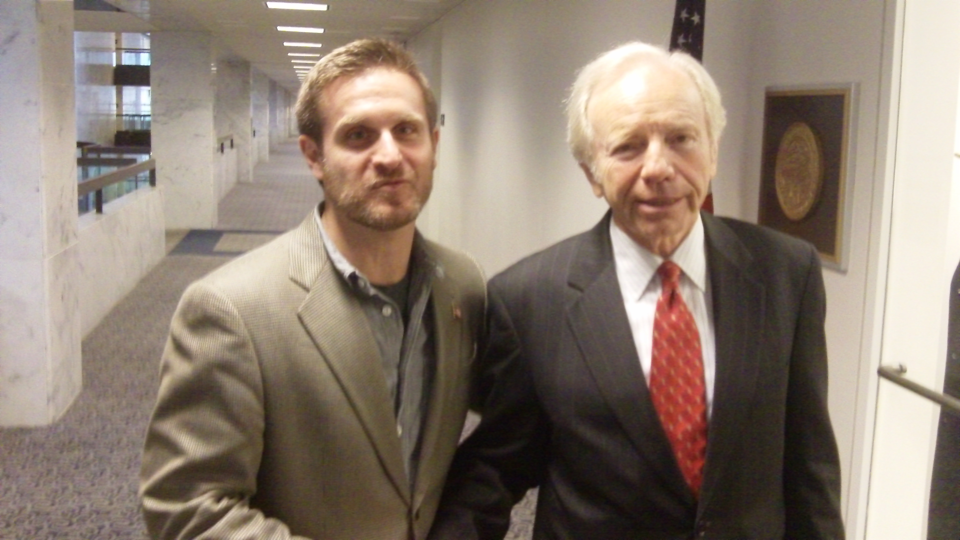 Martin Eisenstadt with old friend Joe Lieberman